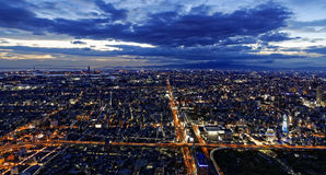 Osaka Aerial Royaltyfria Bilder