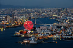 Osaka bay. At dusk, Osaka Japan Royalty Free Stock Photography