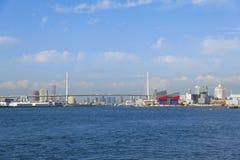 Osaka Bay in morning Stock Photography