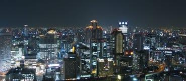 Osaka bij nacht Stock Afbeeldingen