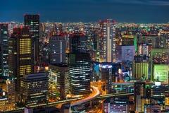 Osaka bij nacht Royalty-vrije Stock Foto's