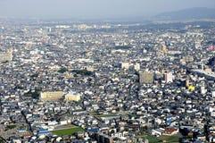 Osaka in birdview. Aerial view of suburbs of Osaka, Japan Stock Photo