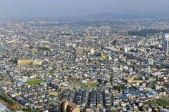 Osaka in  birdview. Aerial view of suburbs of Osaka, Japan Stock Photos