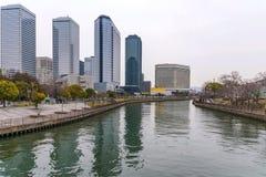 Osaka biznesowego parka budynki fotografia stock