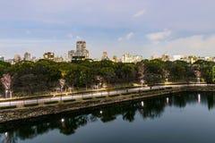 Osaka Biznesowy park zdjęcie royalty free
