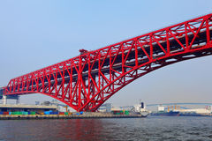 Osaka bridge. At day time Royalty Free Stock Photo