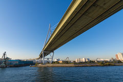 Osaka Bridge. Osaka Tempozan Oohashi Bridge,at Osaka city, Japan Royalty Free Stock Images