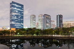 Osaka business park buildings at night Stock Images
