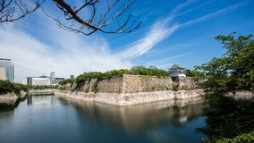 Osaka Castle är en japansk slott i Chūō-ku, Osaka, Japan Th Arkivfoton