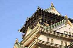 Osaka Castle é um castelo japonês em Osaka, Japão Imagem de Stock Royalty Free