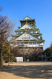 Osaka Castle. And blue sky in Osaka, Japan Royalty Free Stock Photography
