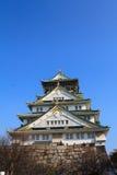 Osaka Castle. And blue sky in Osaka, Japan Stock Image