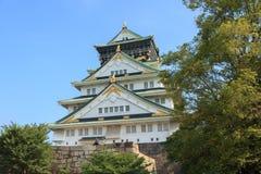 Osaka Castle. During daytime on summer of japan Royalty Free Stock Images