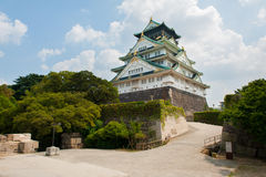 Osaka Castle. Reconstruction of a great castle of famous Hideyoshi at Osaka, Japan Royalty Free Stock Image