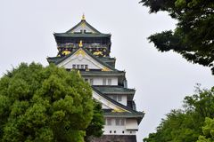 Osaka Castle foto de stock royalty free