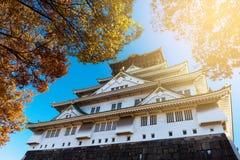 Osaka Castle in autumn Royalty Free Stock Photography