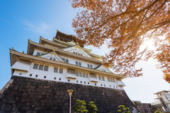 Osaka Castle with autumn colors Royalty Free Stock Photography