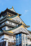 Osaka castle in Autumn. OSAKA, JAPAN - NOVEMBER 18: Osaka Castle in Osaka, Japan on November 18, 2013. One of Japan's most famous and played a major role in the Stock Image
