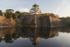Osaka Castle in autumn, Japan Stock Image