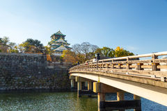 Osaka Castle in the autumn Stock Photos
