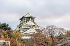 Osaka Castle with autumn leaves, Osaka prefecture, Japan, UNESCO world heritage site Royalty Free Stock Images