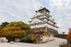 Osaka castle in Autumn Royalty Free Stock Image