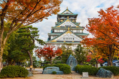 Osaka castle in Autumn Royalty Free Stock Photography