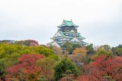 Osaka Castle in Autumn at Osaka, Japan royalty free stock photos
