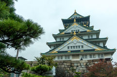 The Osaka Castle. In autumn season, one of the famous castle in Japan royalty free stock photo