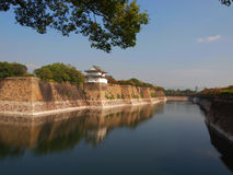 Osaka Castle. A barrier wall surrounding Osaka Castle in Japan Royalty Free Stock Image