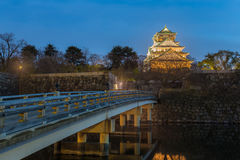 Osaka Castle bei Osaka City Stockfotos