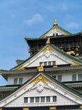 Osaka castle and blue sky Stock Photos