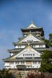 Osaka castle with blue sky Stock Photos