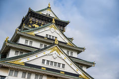 Osaka castle with blue sky Stock Photo