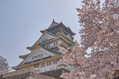 Osaka Castle bonito com Cherry Blossom Imagem de Stock Royalty Free