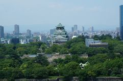 Osaka Castle chuoku, Osaka Japan, Arkivbild