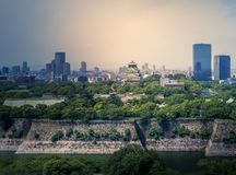 Osaka Castle chuoku, Osaka Japan, Arkivbilder