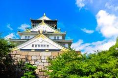 Osaka castle. Among clear sky Royalty Free Stock Image