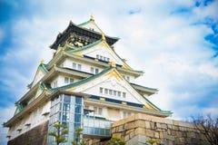 Osaka Castle with Cloudy sky Royalty Free Stock Photos