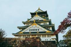 Osaka Castle in de herfstseizoen, één van het beroemdste oriëntatiepunt royalty-vrije stock fotografie