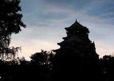 Osaka castle on dusk, Osaka, Japan 3 Royalty Free Stock Photo