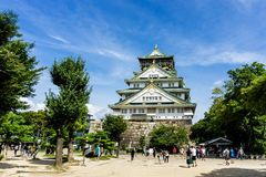 Osaka Castle em Osaka Japan fotografia de stock