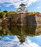 Osaka Castle em Osaka, Japão Imagem de Stock Royalty Free