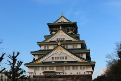 Osaka Castle en Osaka, Japón Imagen de archivo libre de regalías