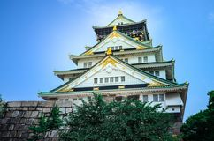 Osaka Castle en Osaka, Japón Imagenes de archivo