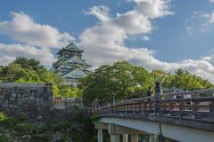 Osaka Castle en Sunny Day Photographie stock