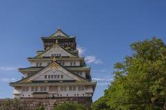 Osaka Castle en Sunny Day Images libres de droits