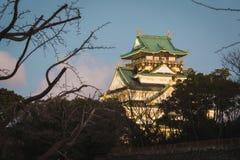 Osaka Castle est la destination de beaucoup de couples C'est un endroit qui crée très un romantique photos stock