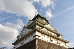 Osaka castle in the evening Osaka, Japan Royalty Free Stock Images