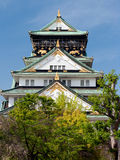 Osaka Castle front view Royalty Free Stock Images